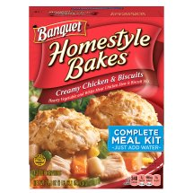 Banquet Homestyle Bakes Creamy Chicken & Biscuits, 28.1 Ounce