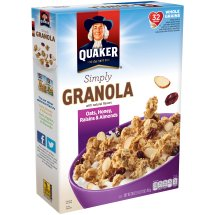 Quaker® Simply Granola Oats, Honey, Raisins & Almonds Cereal 28 oz. Box