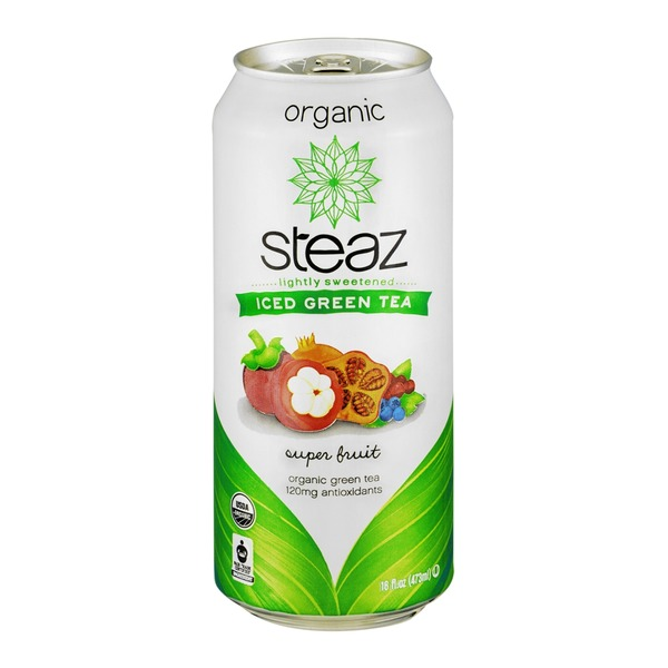 Steaz Iced Green Tea Organic Super Fruit