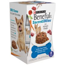 Purina Beneful IncrediBites with Real Beef, Tomatoes, Carrots & Wild Rice Dog Food 3-3 oz. Cans