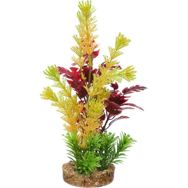 Petco Yellow & Red Fiesta Tropical Plastic Aquarium Plant