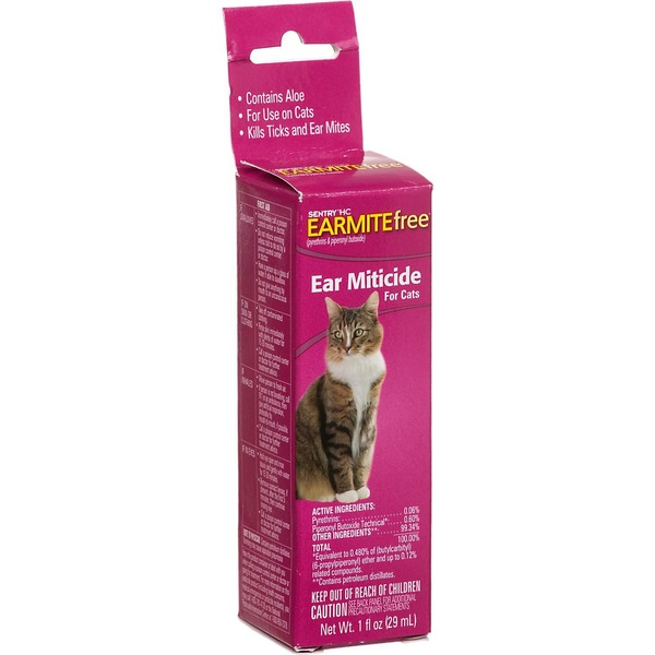 Sentry Hc Earmite Free Ear Miticide for Cats
