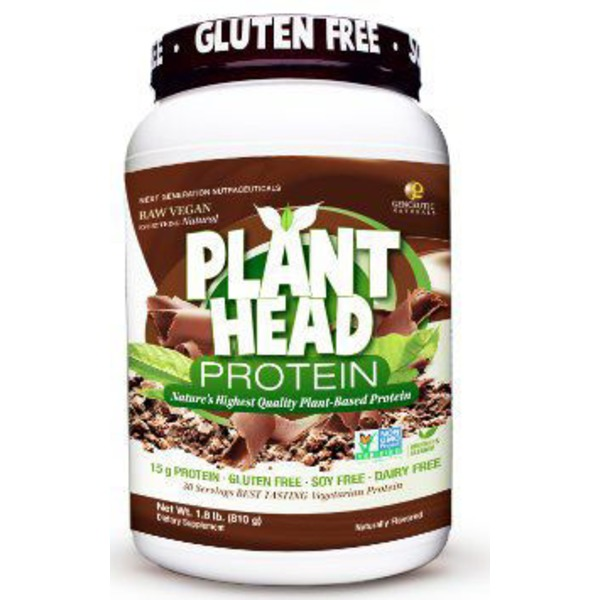 Genceutic Naturals Chocolate Plant Head Protein Powder
