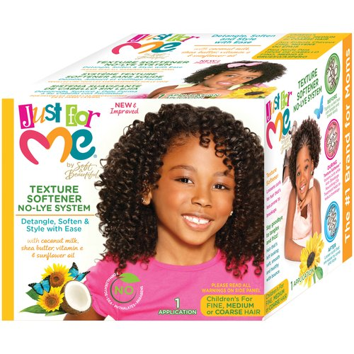Just For Me by Soft & Beautiful Children's Fine Medium or Coarse Hair No-Lye Texture Softener System Kit