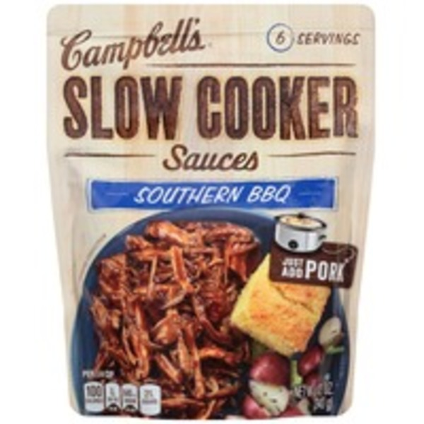 Campbell's Dinner Sauces Southern BBQ Slow Cooker Sauces