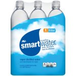 Smartwater Vapor Distilled Water, 33.8 Fl Oz, 6 Count
