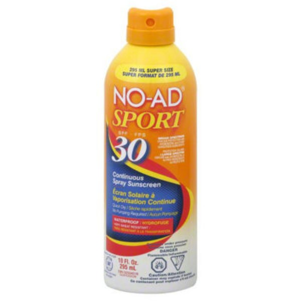 No-Ad Sport Continuous Spray Sunscreen SPF 30