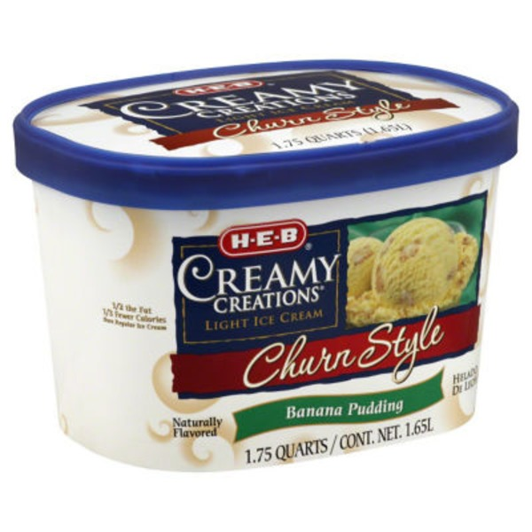 H-E-B Churn Style Banana Pudding Ice Cream