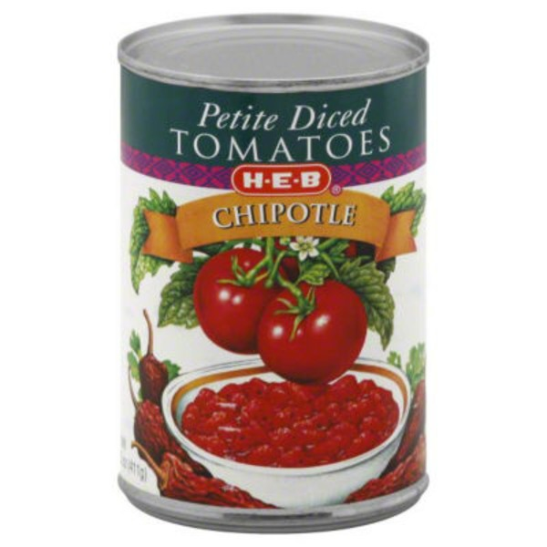 H-E-B Chipotle Petite Diced Tomatoes