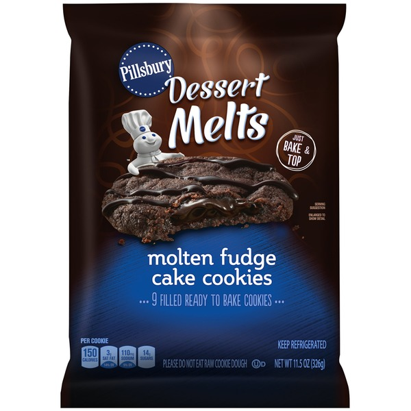 Pillsbury Dessert Melts Molten Fudge Cake Cookies