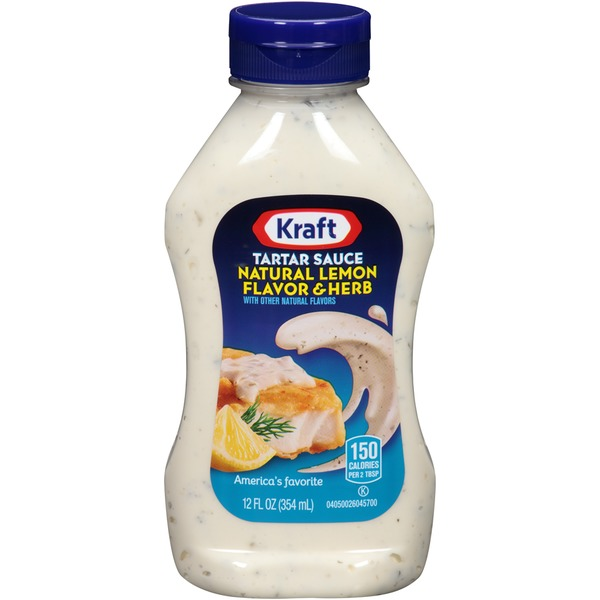 Kraft Specialty Sauces Natural Lemon Flavor & Herb Tartar Sauce