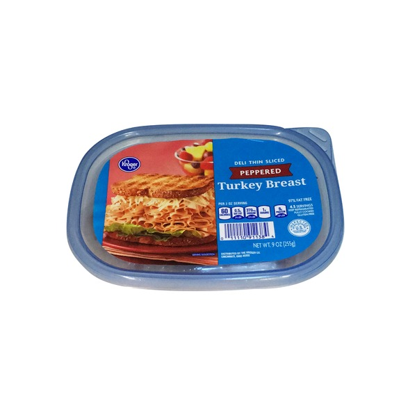 Kroger Deli Thin Sliced Peppered Turkey Breast