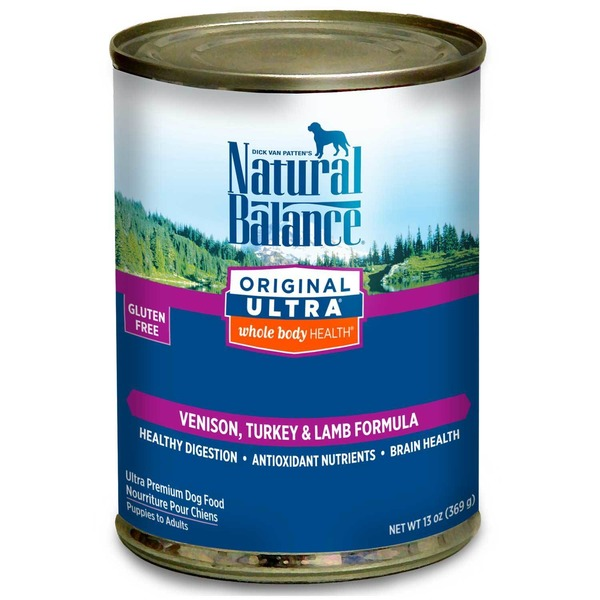 Natural Balance Original Ultra WBH Venison Turkey & Lamb Formula Canned Dog Food
