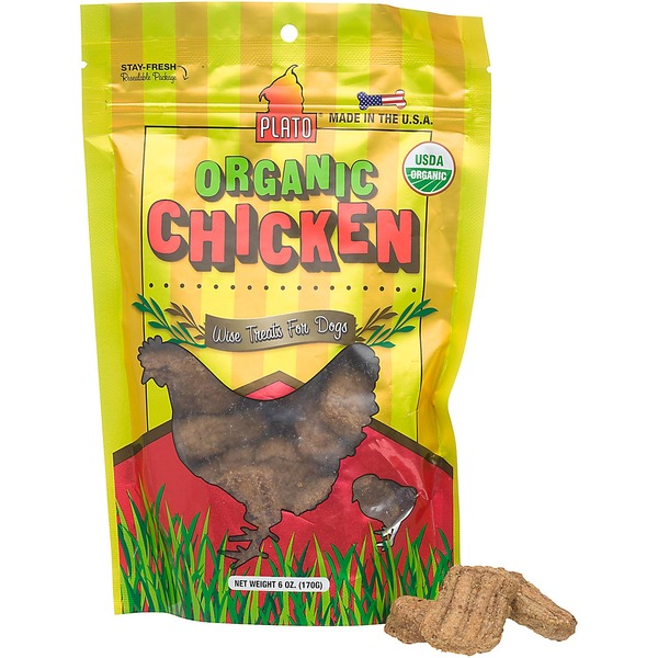Plato Pet Organic Chicken Dog Treats