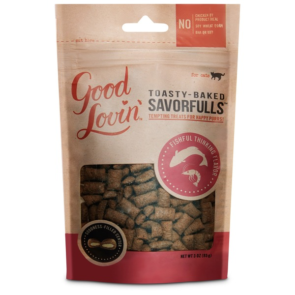 Good Lovin' Fishful Thinking Savorfulls Cat Treats Filled With Seafood