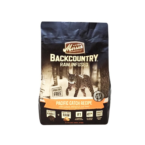 Merrick Backcountry Raw Infused Pacific Catch Recipe Dry Cat Food