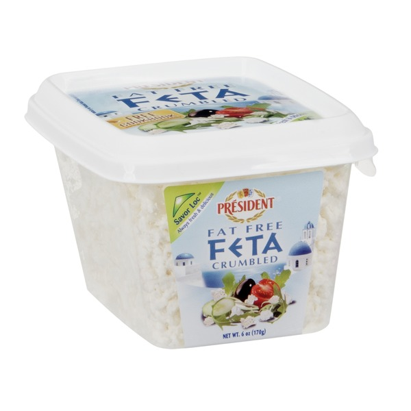 President Crumbled Feta Cheese, Fat Free