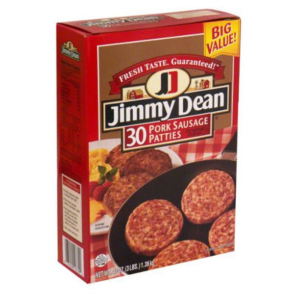 Jimmy Dean Original Flavor Pork Sausage Patties