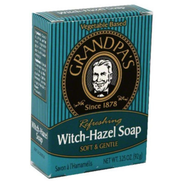 Grandpa's Soap, Witch-Hazel, Soft & Gentle, Refreshing, Box