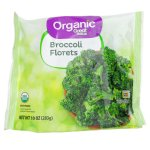 Great Value Organic Broccoli Florets, 10 oz