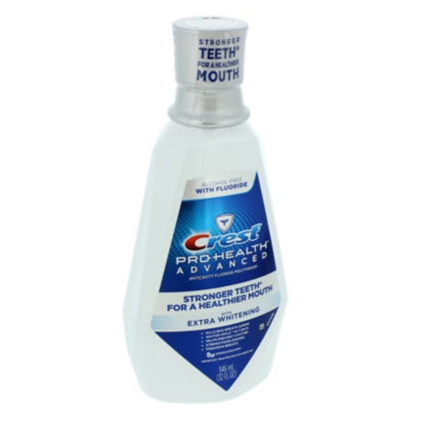Crest Pro Health Advanced Crest Pro-Health Advanced Mouthwash with Extra Whitening, Energizing Mint Flavor 946 ML Oral Rinse
