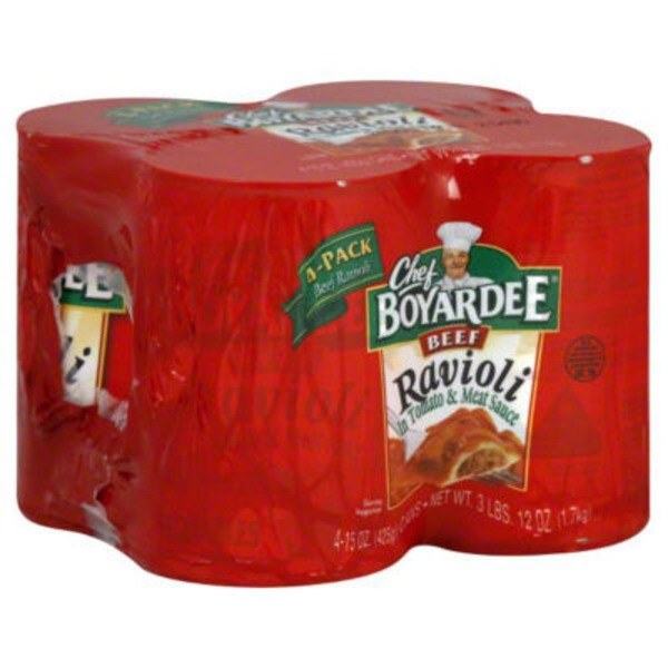 Chef Boyardee Beef Ravioli in Tomato & Meat Sauce Value Pack - 4 PK