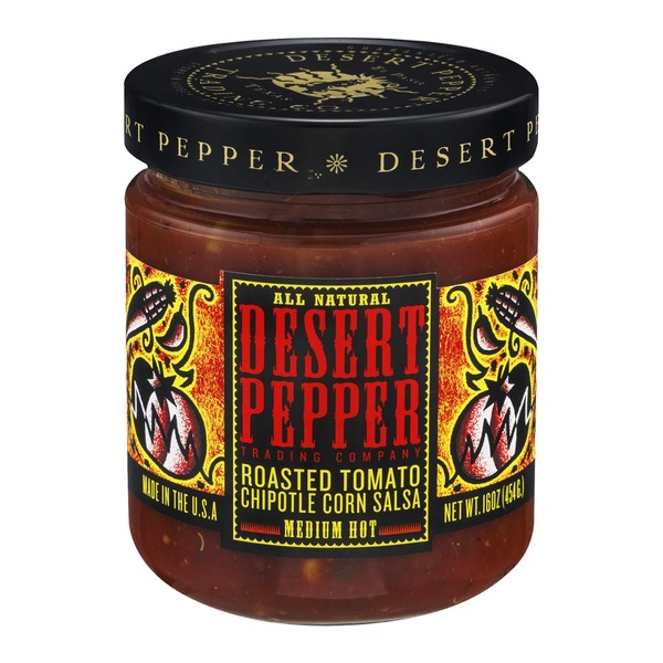Desert Pepper Trading Company Roasted Tomato Chipotle Corn Salsa Medium Hot