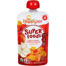 Happy Tot® Organic Superfoods Apples & Butternut Squash + Super Chia Baby Food 4.22 oz. Pouch