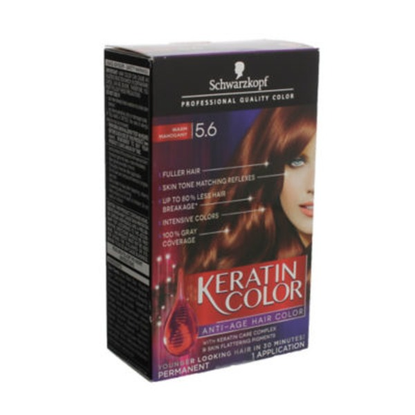 Keratin Color Anti-Age 5.6 Warm Mahogany Hair Color