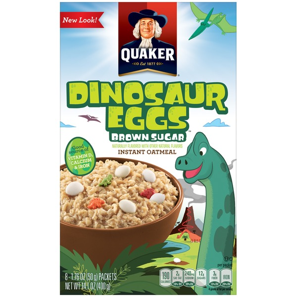 Quaker Oatmeal Dinosaur Eggs Brown Sugar Instant Oatmeal