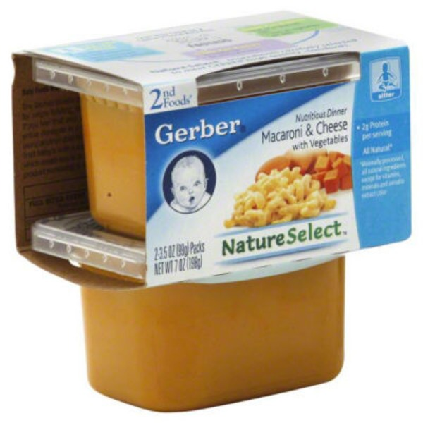 Gerber Macaroni & Cheese Nutritious Dinner 2nd Foods