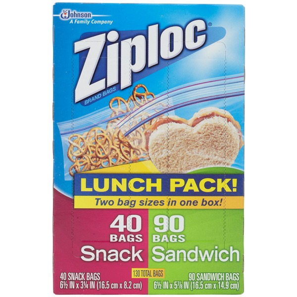 Ziploc Sandwich & Snack Lunch Pack Bag