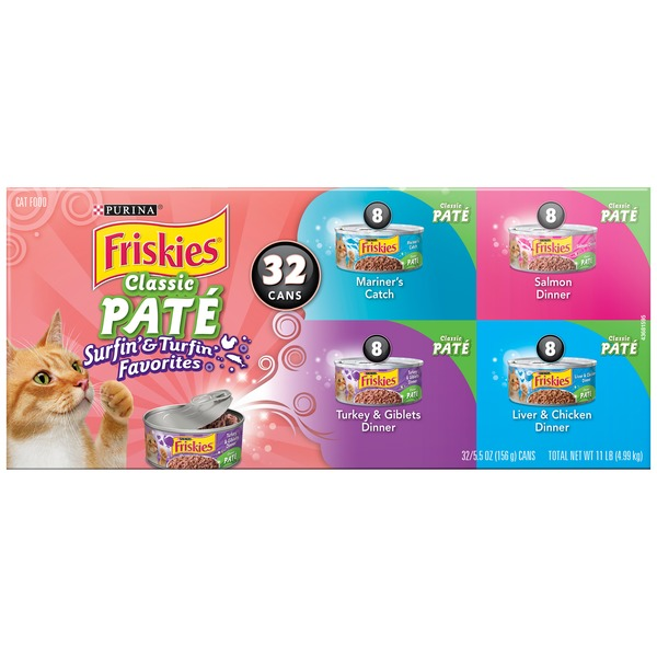 Friskies Classic Pate Surfin' & Turfin' Favorites Variety Pack Cat Food