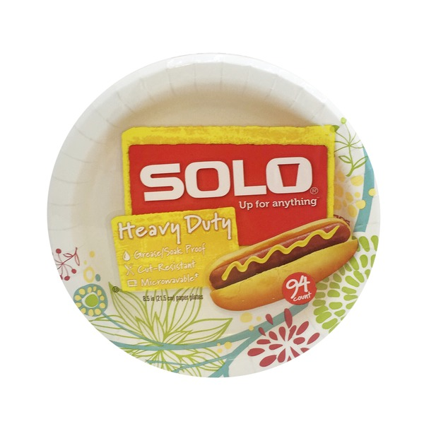 Solo Heavy Duty 8.5 Inch Paper Plates