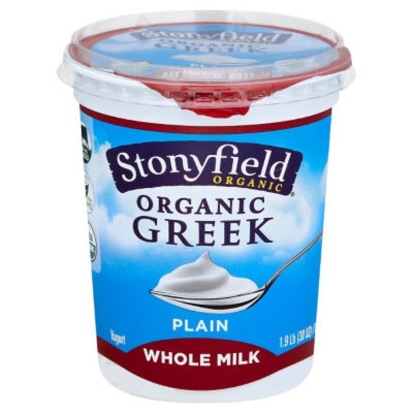 Stonyfield Organic Greek Whole Milk Plain Organic Yogurt