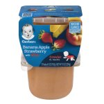 Gerber 3rd Foods Banana Apple Strawberry with Lil' Bits Pureed Fruit Baby Food, 5 oz, 2 count