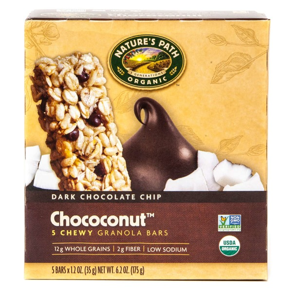 Nature's Path Dark Chocolate Chip Chococonut Chewy Granola Bars