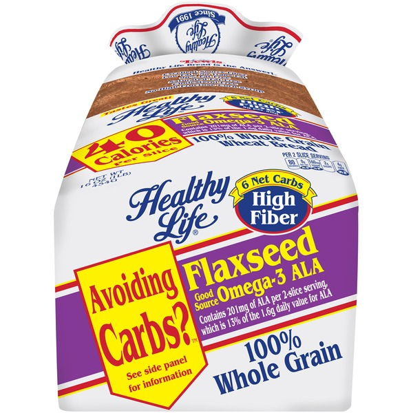 Healthy Life Flaxseed 100% Whole Grain Wheat Bread