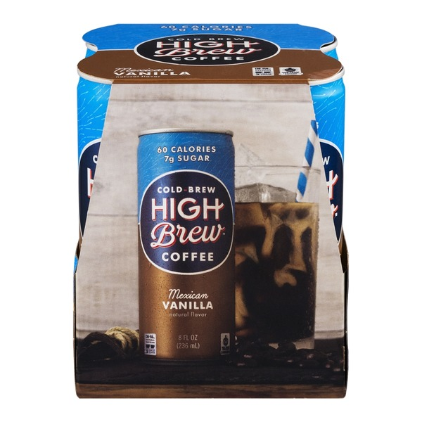 High Brew Cold-Brew Coffee Mexican Vanilla - 4 CT