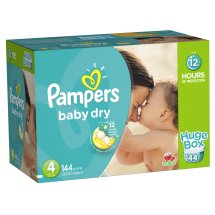 Pampers Baby Dry Diapers, Size 4, 144 Diapers