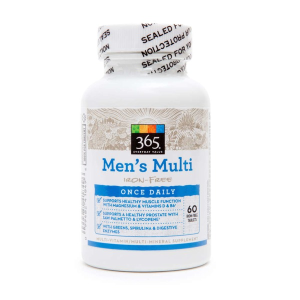 365 Adult Iron Free Multi Vitamin For Men