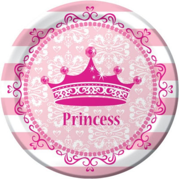 Creative Expressions Pink Princess Royalty Lunch Plate