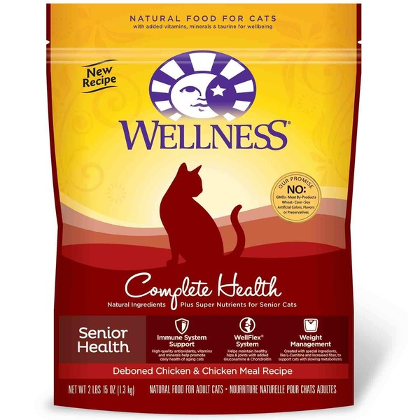 Wellness Complete Health Senior Health Deboned Chicken & Chicken Meal Recipe Cat Food