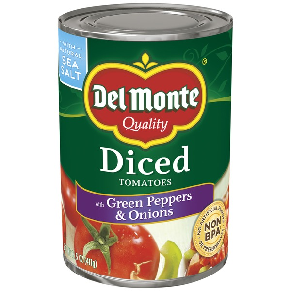 Del Monte Diced with Green Pepper & Onion Tomatoes