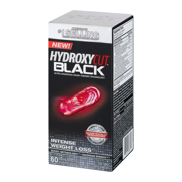 Hydroxycut Black Intense Weight Loss Rapid-Release Liquid Capsules - 60 CT