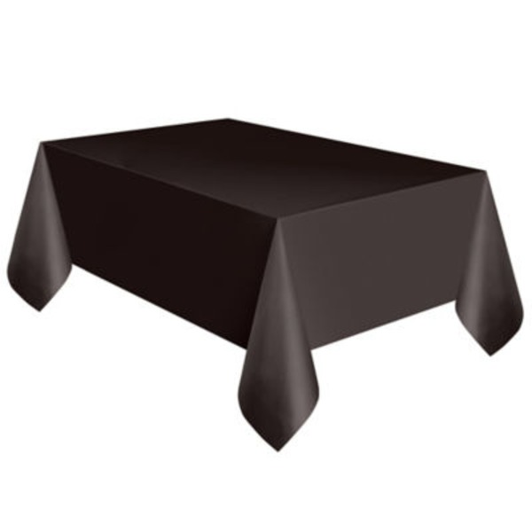 Unique Midnight Black Plastic Table Cover