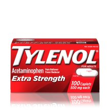 TYLENOL® Extra Strength Caplets, Fever Reducer and Pain Reliever, 500 mg, 100 ct.
