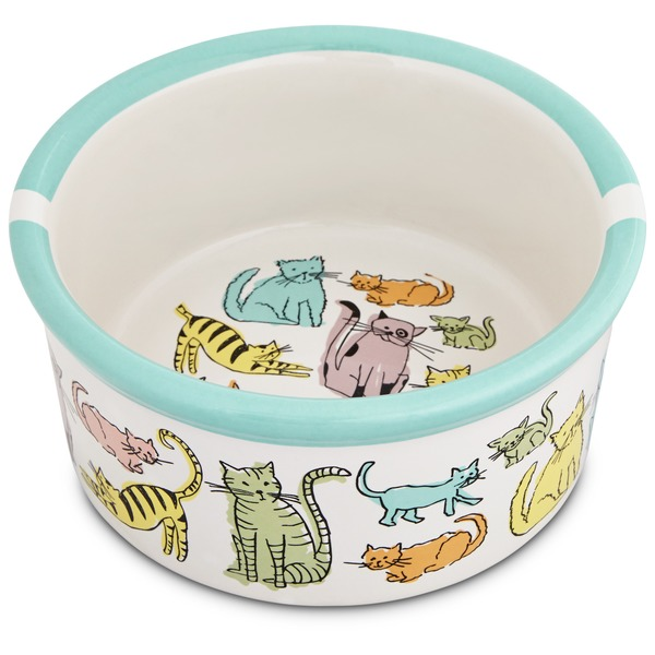 Harmony Cat Town Ceramic Cat Bowl 3