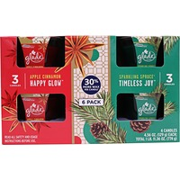 Glade Apple Cinnamon & Sparkling Spruce Holiday Candles
