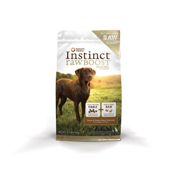 Nature's Variety Instinct Rawboost Grain Free Duck Meal & Turkey Meal Formula Dry Dog Food